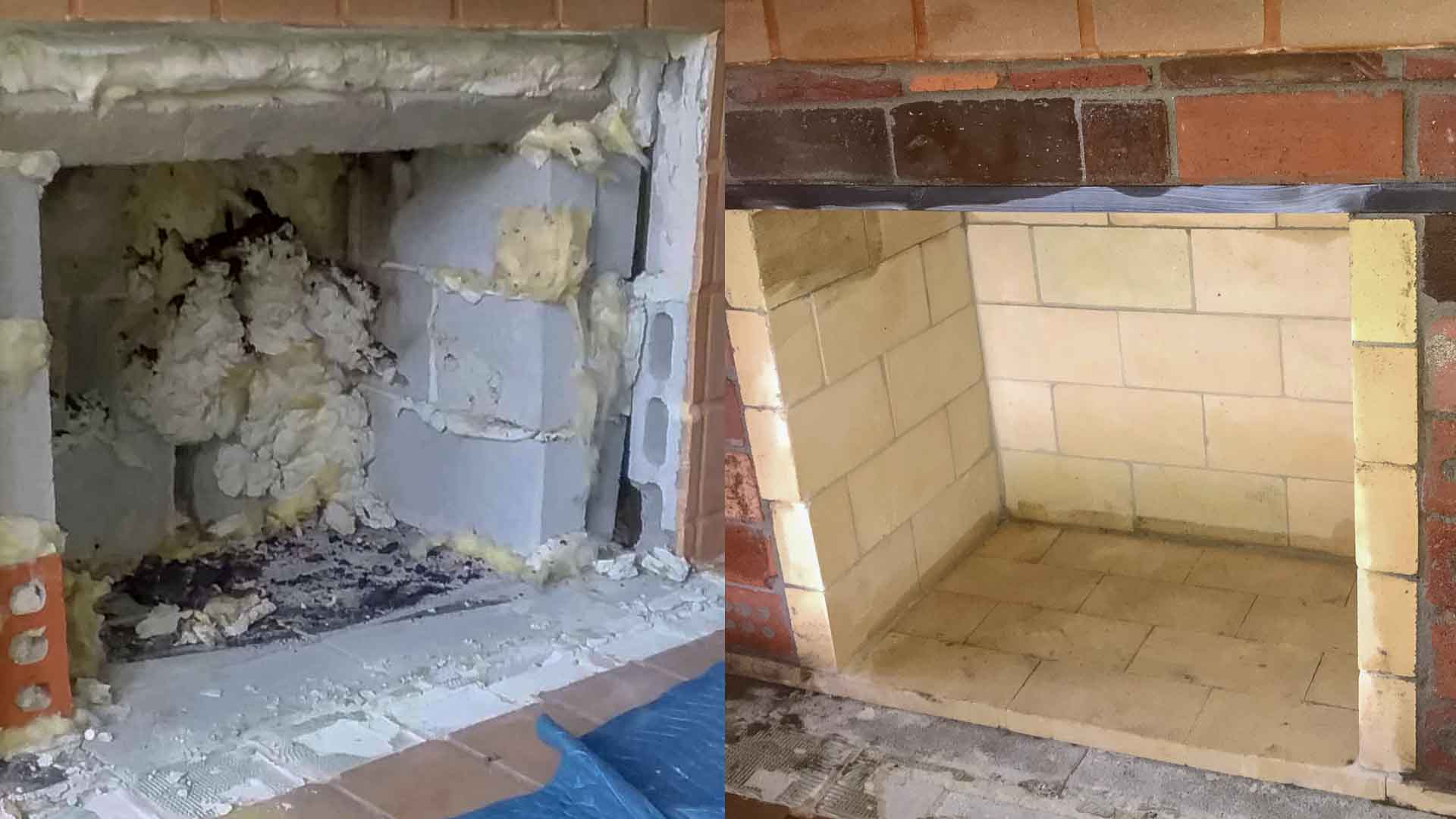 Fireplace Repair Firebox Insulation