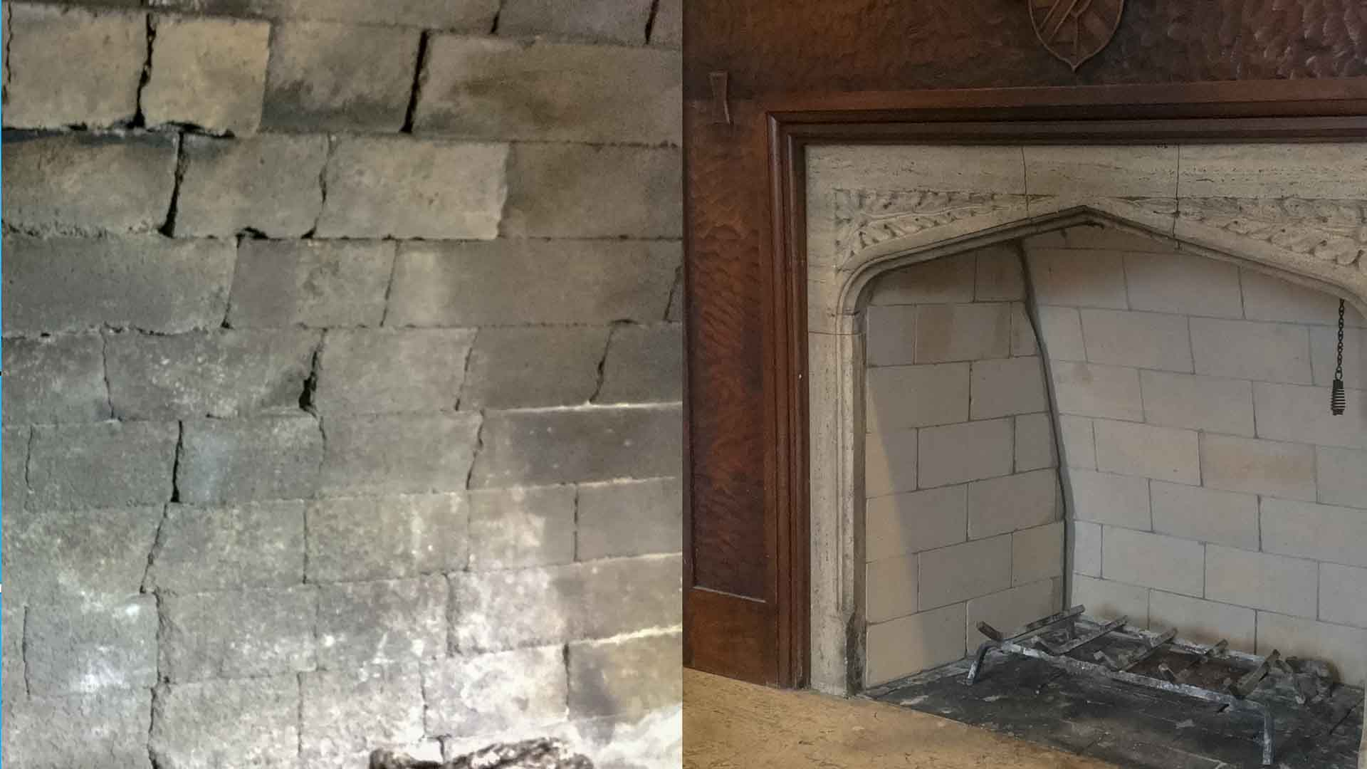Gas Log Fireplace-Repair-Firebox