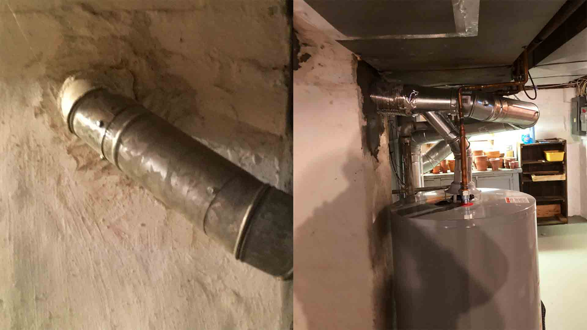 Gas Water Heater Chimney Reline