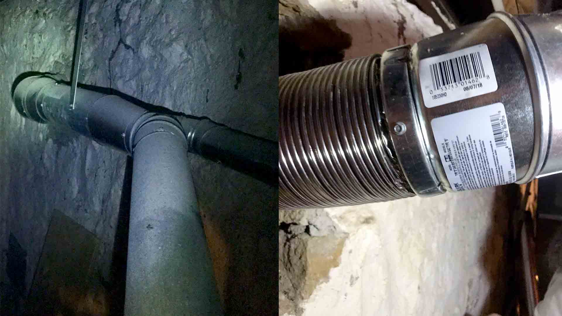 Steel Utility Liner Install for Gas Furnace and Hot Water Heater