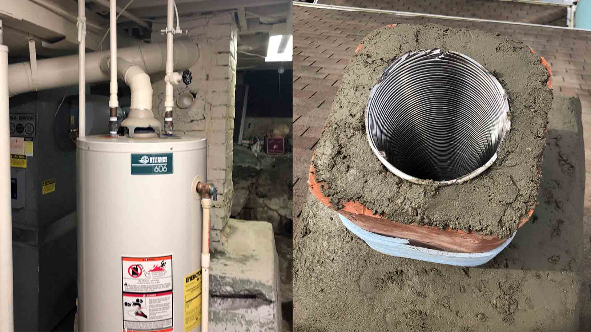Water Heater Vent Pipe Replacement of Chimney Liner