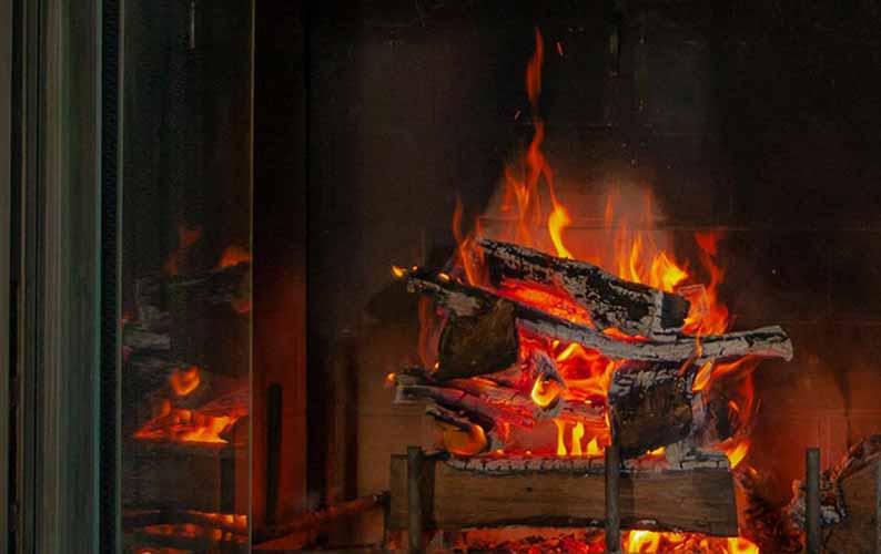 Wood Burning Fireplace Conversion in Kansas City