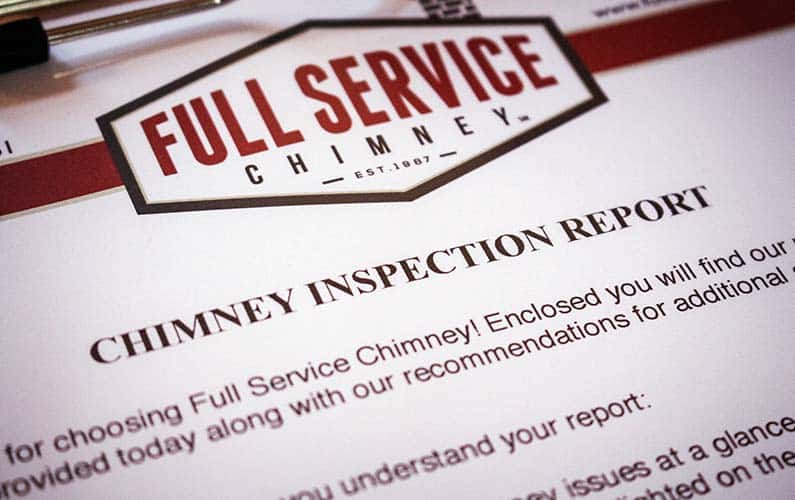 Full Service Chimney Inspection Report