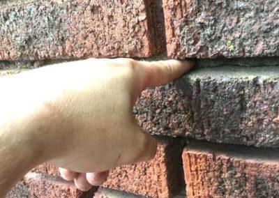 Mortar Missing Between Bricks Cause Leaks
