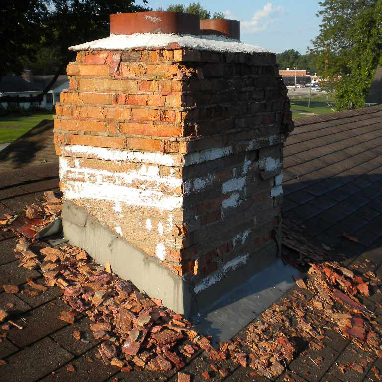 Spalling happens and will eventually require rebuilding services