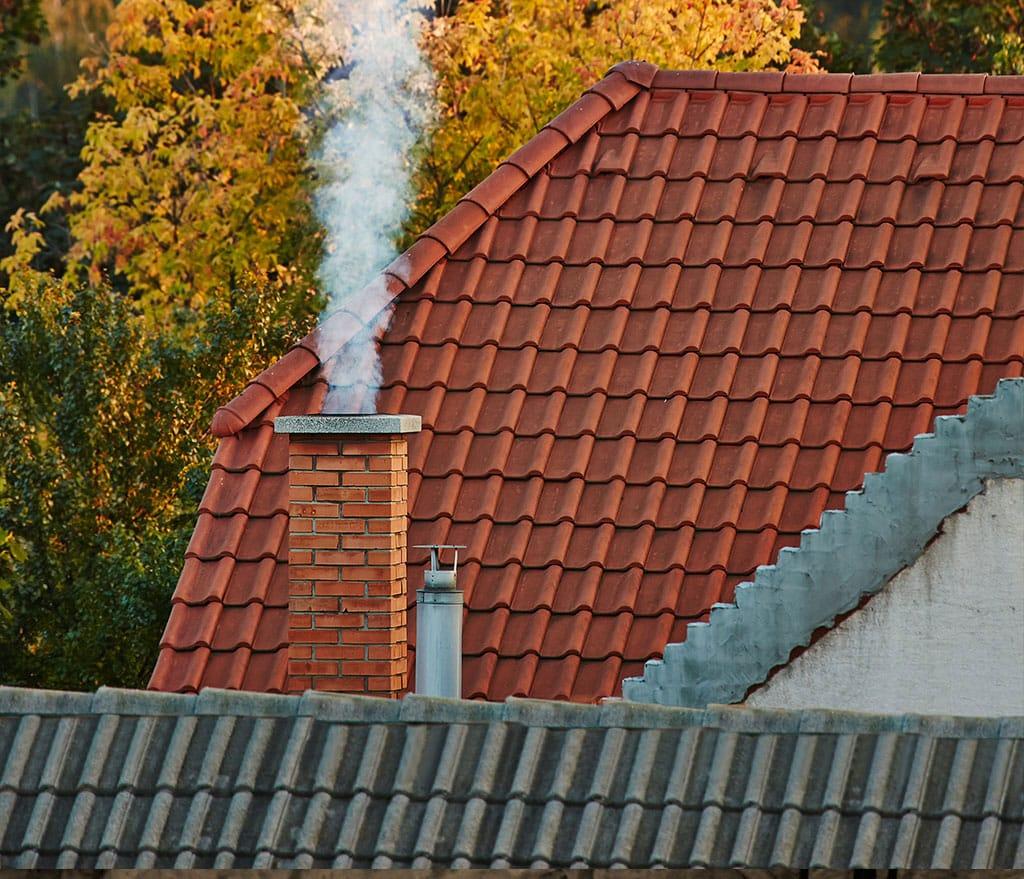 Chimney with smoke
