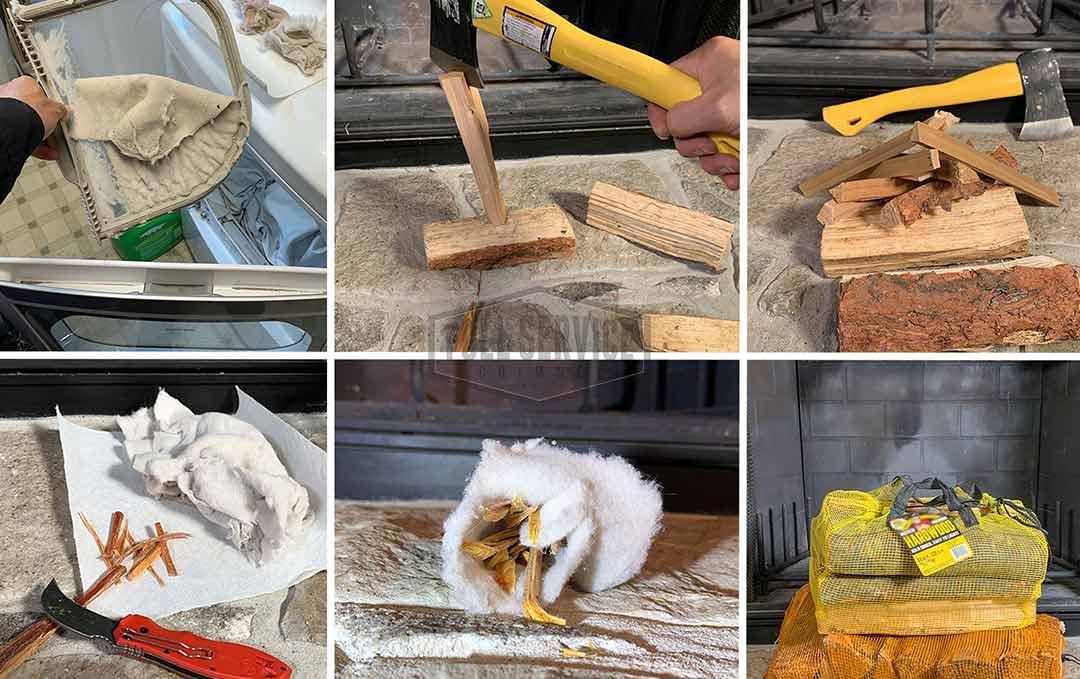 Prepare Wood Tinder Kindling