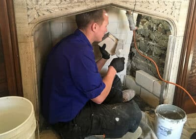 Fireplace Repair Job