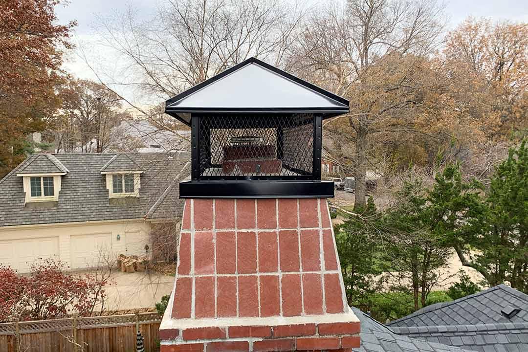 Black Stainless Steel Chimney Cap