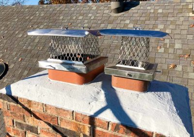 Double Stainless Steel Cap Installation