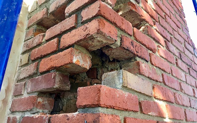 Masonry Chimney Needs Brick Repairs