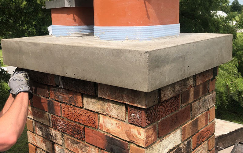 Cap Crown Replacement on Brick Chimney