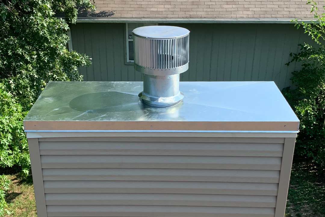 Stainless Steel Chimney Chase Cover in Kansas City