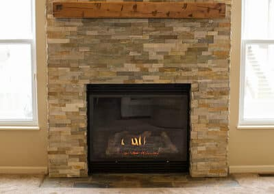 Gas Fireplace Remodel in Lee's Summit Missouri