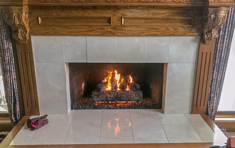Gas Fireplace in Leawood KS