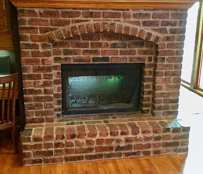 Louisburg Kansas Brick Fireplace