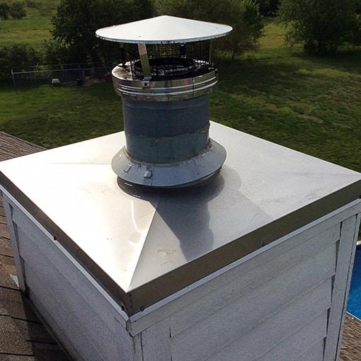 Ottawa Kansas Chimney Cover Installation