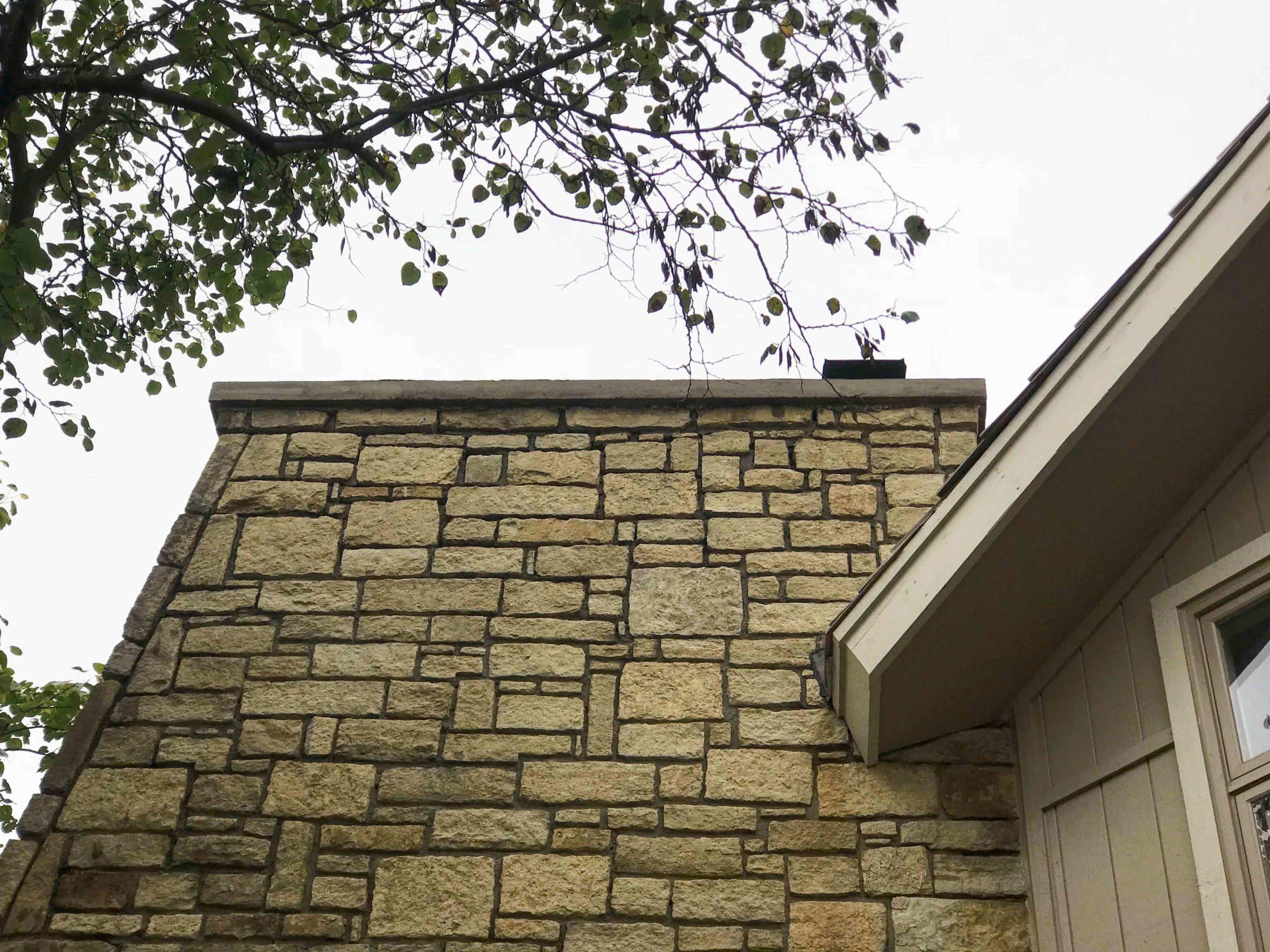 Stone Masonry Chimney in Parkville MO