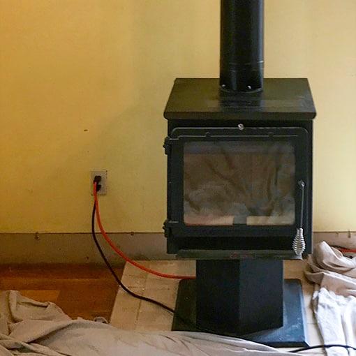 Wood-burning stove in Edwardsville