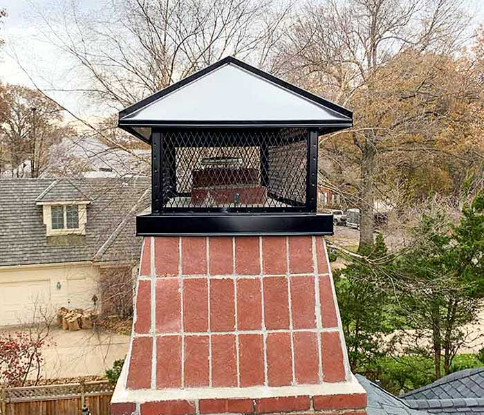 Black Stainless Steel Chimney Cap