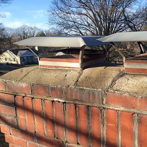 Chimney Crown Damage in Mission KS