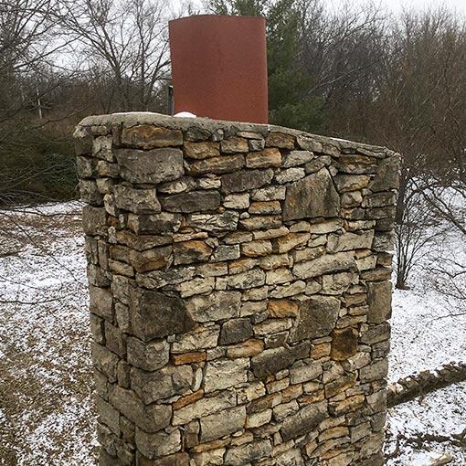 Gardner Kansas Stone Chimney
