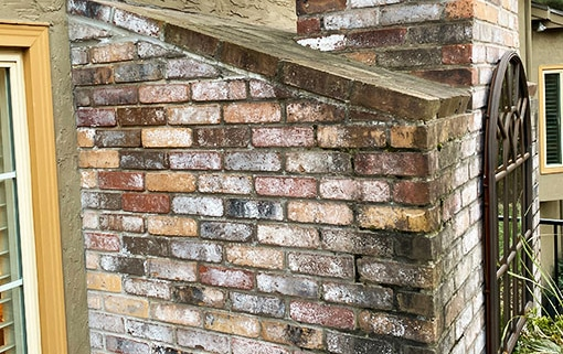 How to Remove Efflorescence from brick chimneys?