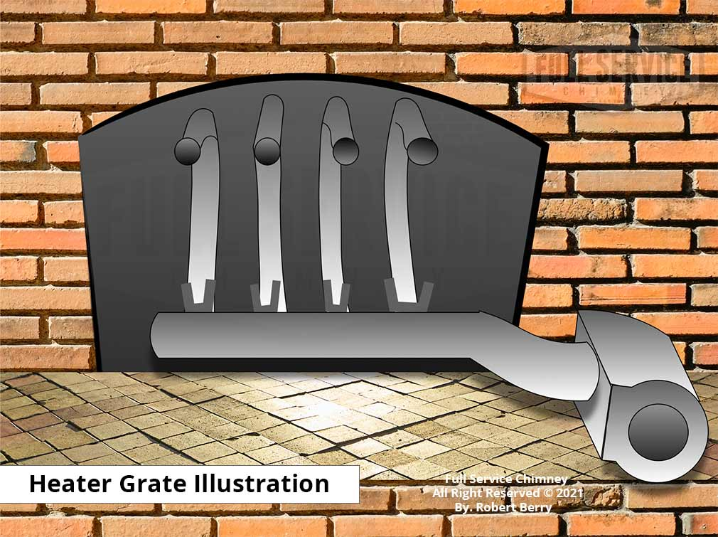 Tube Heater Grate Illustrated Example