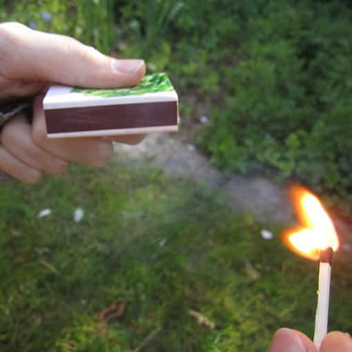 Lighters or Matches are an accessory needed to light your fire