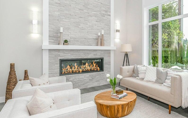 Minimalistic fireplace mantel surround