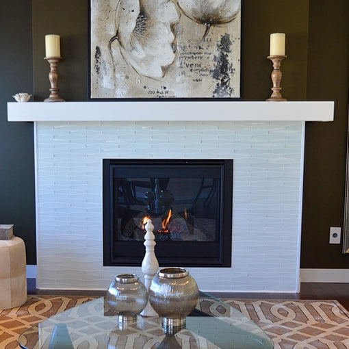 Modern Fireplace mantel surround