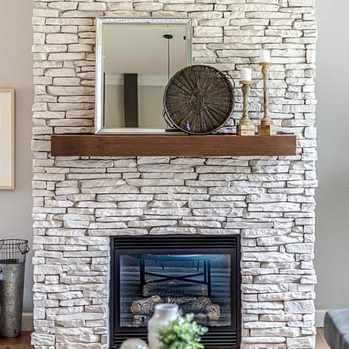 Stone Mantelpiece Decorating Ideas