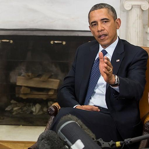 Barack Obama white house fireplace