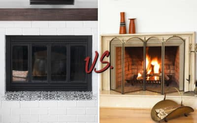 Fireplace Glass Doors vs. Screens
