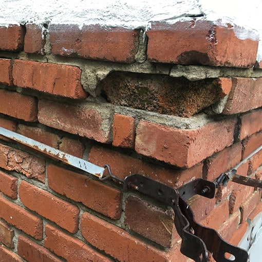Damaged Chimney in Raymore, MO