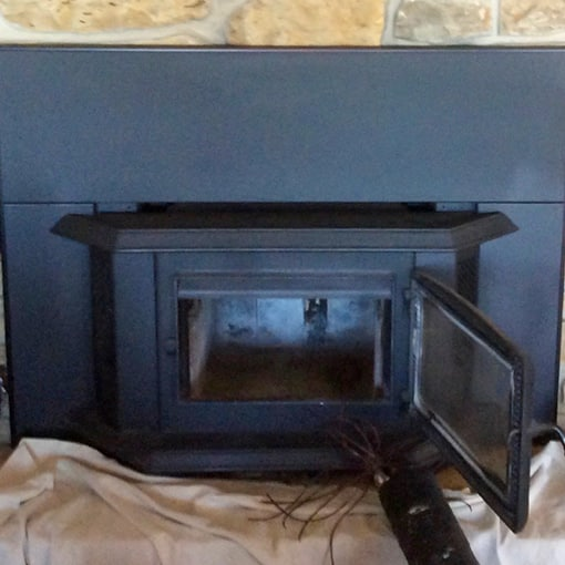 Updated Wood Fireplace in Paola