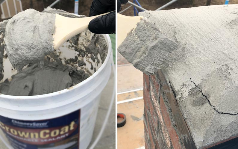 How to Apply Crown Coat Sealant to a Chimney Top