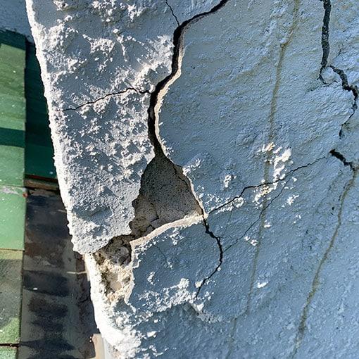 Cracking on stucco chimneys