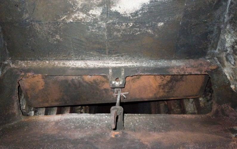 Rusty Vestal Fireplace Throat Damper