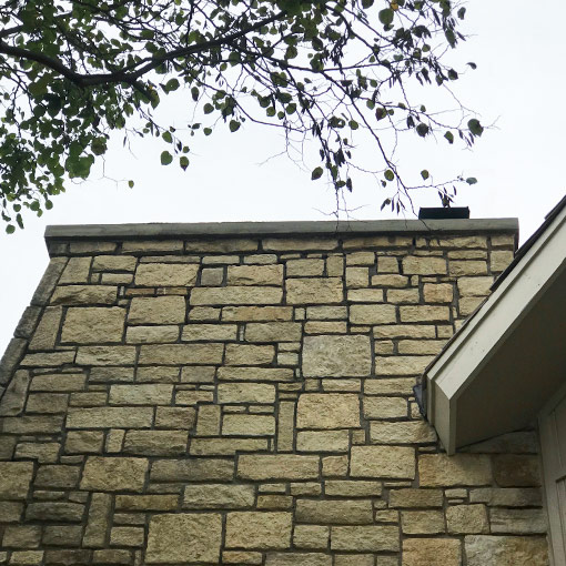 Parkville Mo- stone masonry chimney