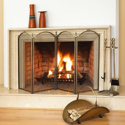 Masonry wood-burning firebox