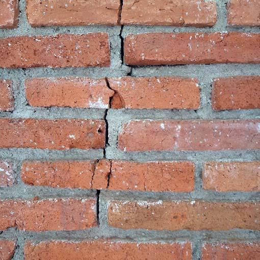 cracking chimney house foundation problems